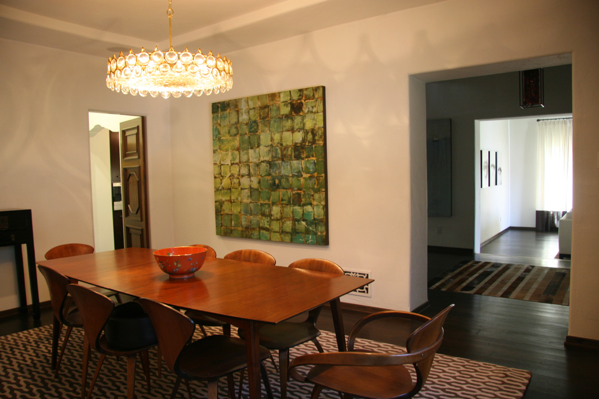 spanish dining room renovation modern furnishings