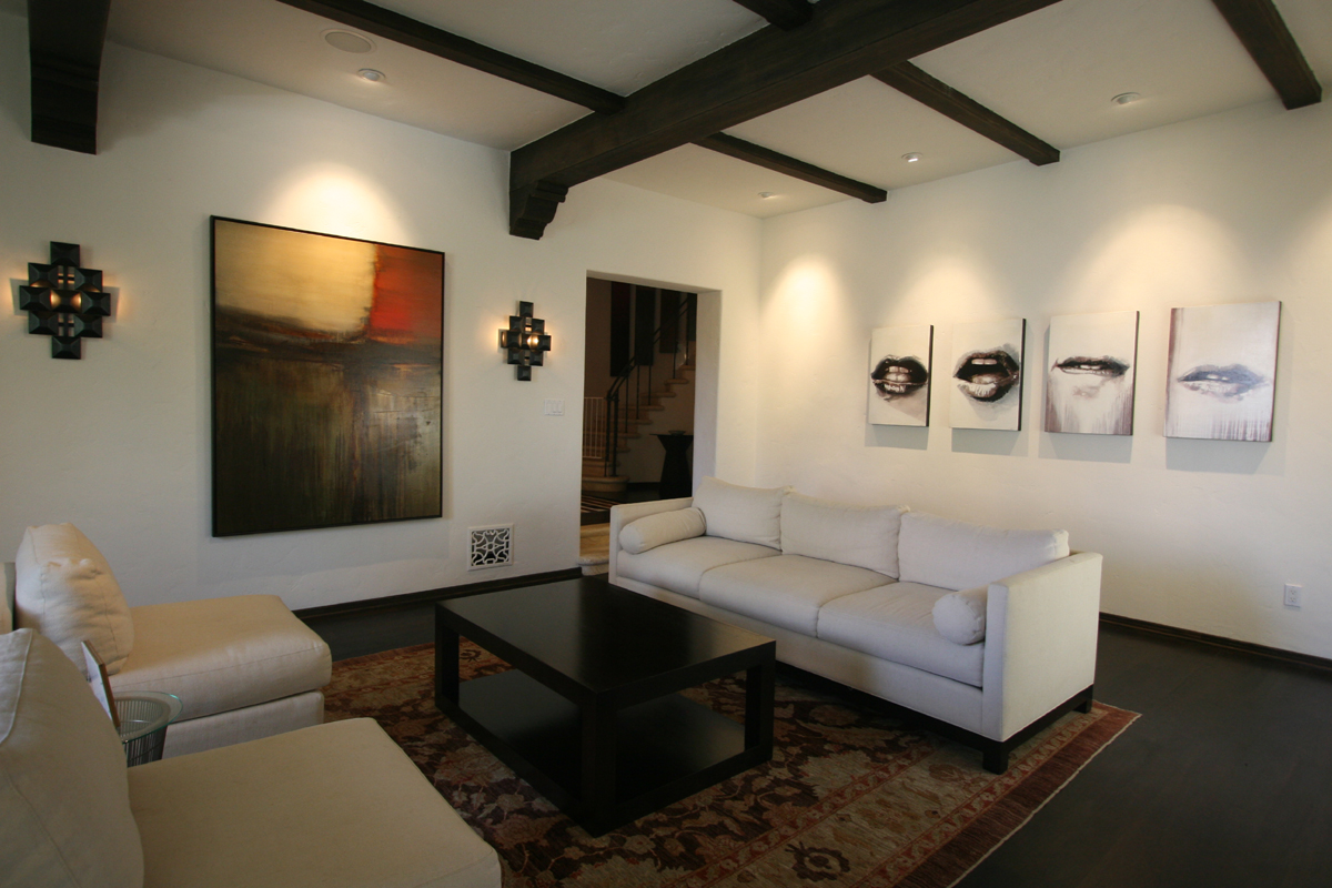 spanish living room renovation modern furnishings